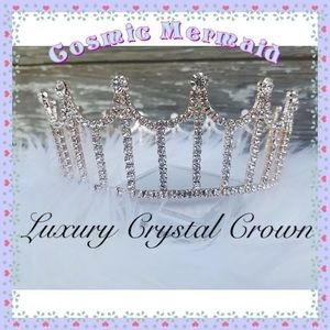 Accessories - LUXURY✨👑Rose Gold Silver Stones Crystal Crown👑✨